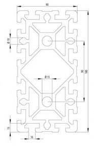BOSCH KOMPATIBILIS PROFIL 90X180S NUT10