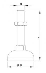 Gépláb D44 M16x145, horganyzott acél