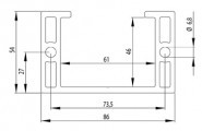 Bosch kompatibilis teleszkóp profil 54x86 Nut10