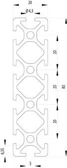 ITEM KOMPATIBILIS PROFIL I 20X80 NUT5