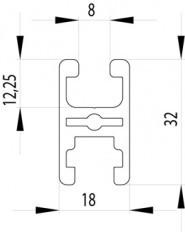 ITEM KOMPATIBILIS PROFIL I 32X18 NUT8
