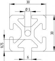 ITEM KOMPATIBILIS PROFIL I 30X30 S NUT6