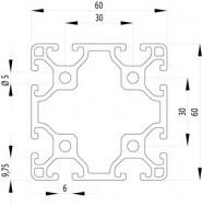 ITEM KOMPATIBILIS PROFIL 60X60 L NUT6