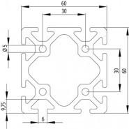 ITEM KOMPATIBILIS PROFIL 60X60 NUT6