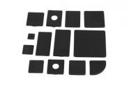 Végzáró kupak, 60x120 Nut6, PA fekete