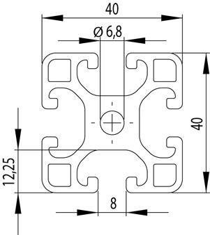 ITEM KOMPATIBILIS PROFIL I 40X40L NUT8