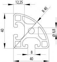 ITEM KOMPATIBILIS PROFIL I 40X40L R40-90