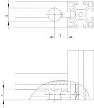 Univerzális összekötő készlet 40×40-es profilhoz, Nut8