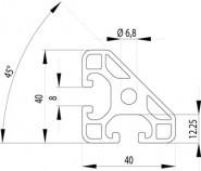 ITEM KOMPATIBILIS PROFIL I 40X40L 45° NU