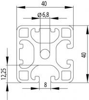 ITEM KOMPATIBILIS PROFIL I 40X40L 2N90 Z