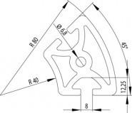 Item kompatibilis Profil, R40x80 45° Nut8