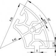 Item kompatibilis profil  R40/80 - 60° Nut8