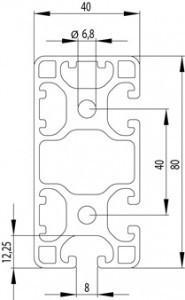ITEM KOMPATIBILIS PROFIL I 40X80L 3N90 Z