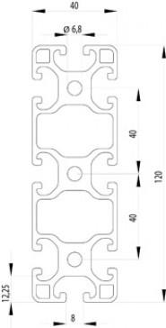 ITEM KOMPATIBILIS PROFIL I 40X120L NUT8