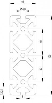 ITEM KOMPATIBILIS PROFIL I 40X120S NUT8