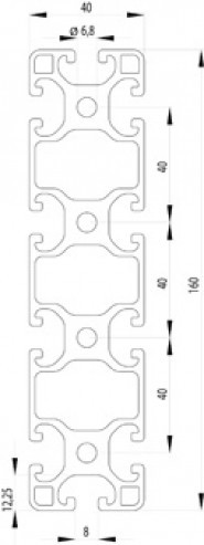 ITEM KOMPATIBILIS PROFIL I 40X160 L NUT8