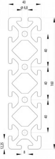 ITEM KOMPATIBILIS PROFIL I 40X160 S NUT8