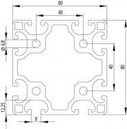ITEM KOMPATIBILIS PROFIL I 80X80 L NUT8
