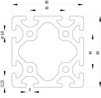 ITEM KOMPATIBILIS PROFIL I 80X80 S NUT8