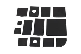 Végzáró kupak B 30x60 Nut8, PA fekete
