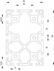 ITEM KOMPATIBILIS PROFIL I 80X120 L NUT8