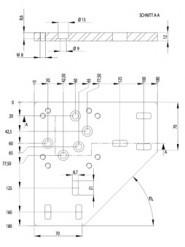 Rögzítő lemez dokkoló kerékhez (502210)