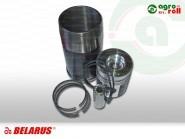 Hüvelygarnitúra 3 gyűrűs MTZ D-260 6/4 hengeres gyűrűvel Turbós EURO-2 MOTORDETAL ORIGINAL RUSSIA Hüvely: L=231mm, Csapszeg: D=38mm, Dugattyúkamra: d=38mm, 260-1000108-S-BY