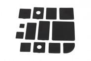 Végzáró kupak B 80x80 Nut10, PA fekete