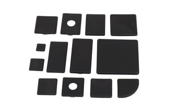 Végzáró kupak B 90x90 Nut10, PA fekete