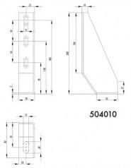 Rögzítőtalp 39x200, horganyzott acél