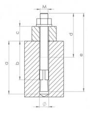 Dübel FBN D8/M8