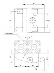 Ajtózár kompakt egyedi zárral, alumínium
