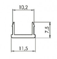 TAKARÓPROFIL B NUT10, PVC FEKETE, L=2000