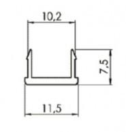Takaróprofil B Nut10, PVC galambszürke, L=2000 mm