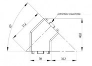 Sarokelem szett 45° B 30x30 Nut8