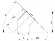 Sarokelem szett 45° B 45x45 Nut10