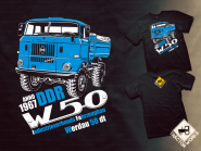 T.W. IFA W50 póló (XL) - Fekete