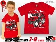 Belarus-MTZ KID 922 Gyerek Póló -piros- (7-8 éves/122 - 128 cm)