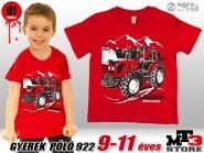 Belarus-MTZ KID 922 Gyerek Póló -piros-  (9-11 éves/134 - 146 cm)