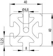 ITEM KOMPATIBILIS PROFIL I 40X40 S NUT8