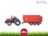 SIKU Massey Ferguson traktor pótkocsival 1:87