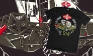 T.W. FORTSCHRITT E-514 póló (XL) - Fekete