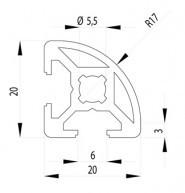Bosch kompatibilis Profil   20x20 R Nut6