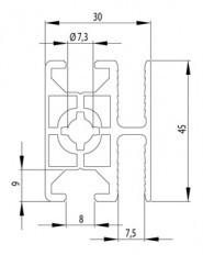 BOSCH KOMPATIBILIS KERETPROFIL 30X45 WG4