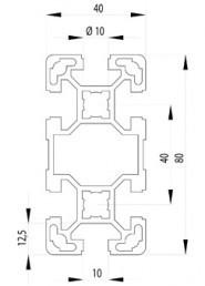 BOSCH KOMPATIBILIS PROFIL 40X80 L NUT10
