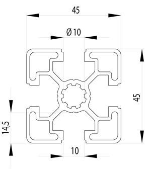 BOSCH KOMPATIBILIS PROFIL 45X45 L NUT10