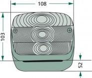 Vendég Hátsólámpa pár LED mágneses rádióhullámos ( vezeték nélküli ) GR