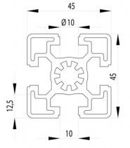 BOSCH KOMPATIBILIS PROFIL 45X45 S NUT10