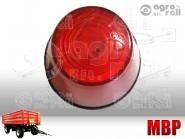 Helyzetjelző lámpa kpl. kerek piros magasbúrás