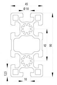 BOSCH KOMPATIBILIS PROFIL 45X90 S NUT10